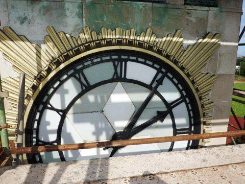 Stanley Park Clock, Blackpool - Sunburst detail