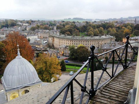 Devonshire Dome Ironworks, Buxton - Refurbished balustrade (overlooking The Crescent)