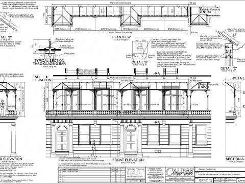 We produced a set of fully detailed approval drawings and issued them to our client for their approval.