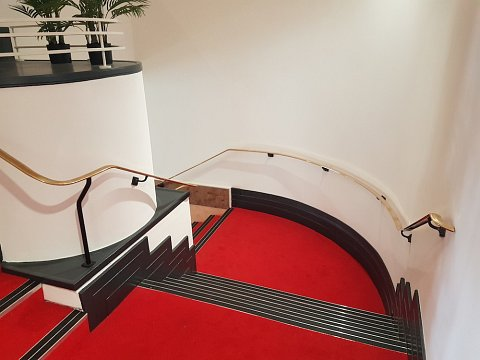 The finished staircase at Chester's Storyhouse Theatre.