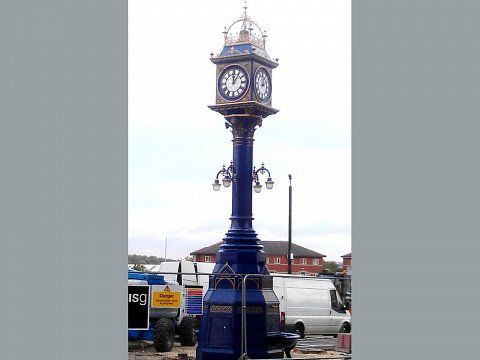 Hastings Clock, Rotherham - Reinstalled in Effingham Square