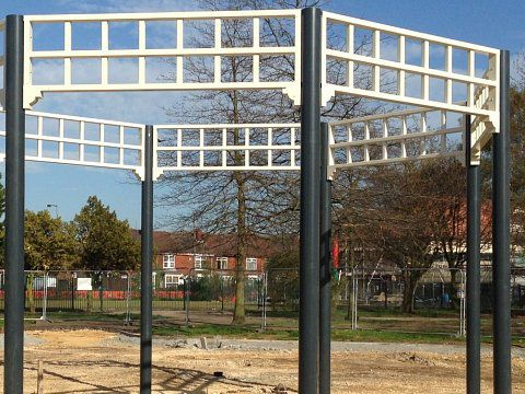 Bentley Park Bandstand, Doncaster - Galvanised steel construction