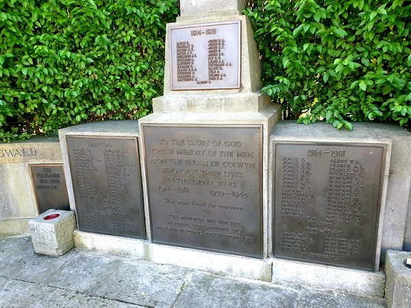 Old Colwyn War Memorial With New Plaque